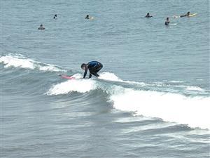 サーフィンスクール 一人練習