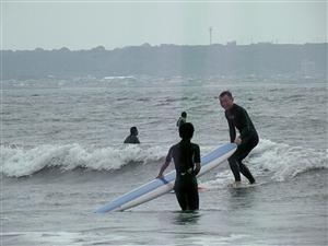 サーフィンスクール 親子で練習